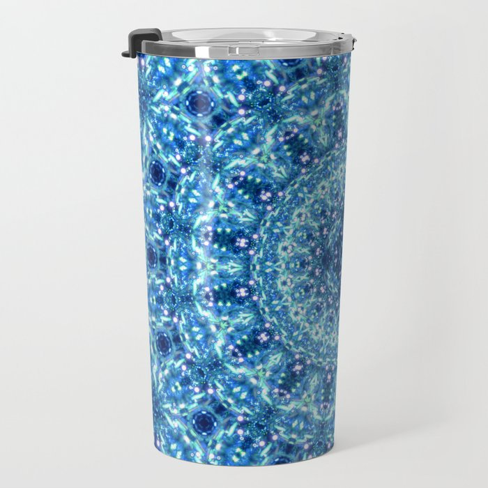 Crystal Radiance Mandala Travel Mug