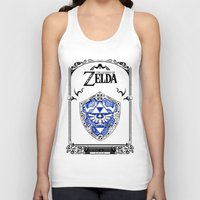 the legend of zelda Tank Tops featuring Zelda legend - Hylian shield by Art & Be