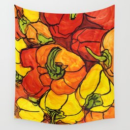 Modern bell peppers Wall Tapestry