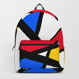 Red, Yellow, Blue Primary Abstract Backpack