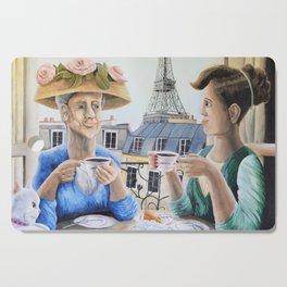 Tea Time in Paris Cutting Board