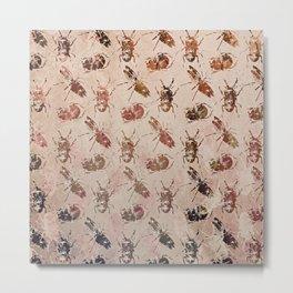 hot buggy mess persimmon brown Metal Print