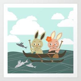 RIA - Canoe Art Print