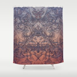 Fire from frost Shower Curtain