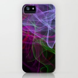Smooth smoke waves of multiple colors iPhone Case