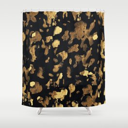 Gold rushing Shower Curtain