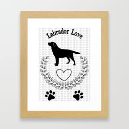 Labrador Love Framed Art Print