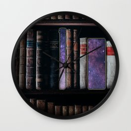 Books warp out Wall Clock