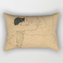 Egon Schiele Lovers Rectangular Pillow