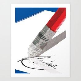 Erase Racism Art Print