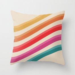 Retro - Rolling Hills #809 Throw Pillow