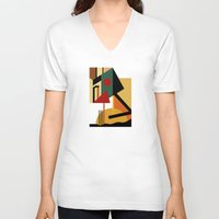 kandinsky V-neck T-shirts featuring THE GEOMETRIST by THE USUAL DESIGNERS