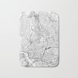 Washington D.C. White Map Bath Mat