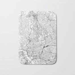 Washington D.C. White Map Bath Mat