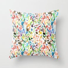 Test Swatches Throw Pillow