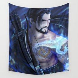 Blue Dragon Hero Wall Tapestry