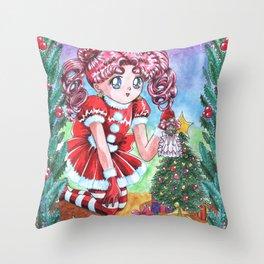 Chibi Chibi Christmas Edition Throw Pillow