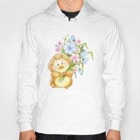 hedgehog Hoodies featuring  Hedgehog by Daria Kotyk