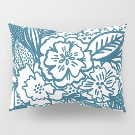 Inky Floral Sketch Pillow Sham