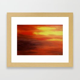 The Relenting Sun Framed Art Print