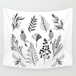 Floral Library Wall Tapestry