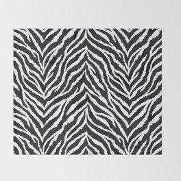 Zebra fur texture Throw Blanket