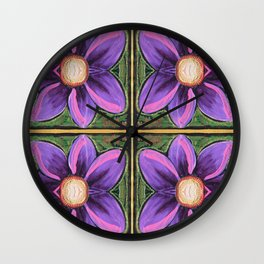 Flower Cross Wall Clock