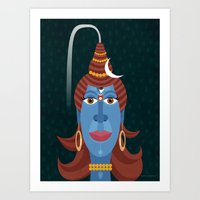 transformer Art Prints featuring Lord Shiva - Transformer or Destroyer by quackdesigns