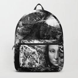 MONA LISA (BLACK & WHITE VERSION) Backpack