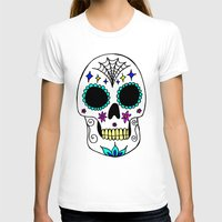sugar skull T-shirts featuring Sugar Skull by Julie Erin Designs