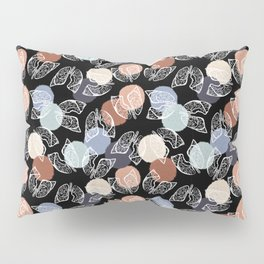 Vintage Lungs on Black Pillow Sham