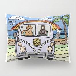 Golden Retriever Beach Pillow Sham