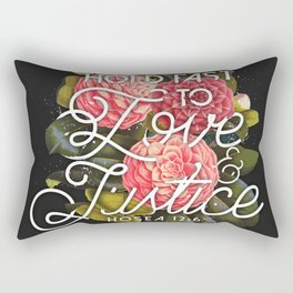 LOVE AND JUSTICE Rectangular Pillow