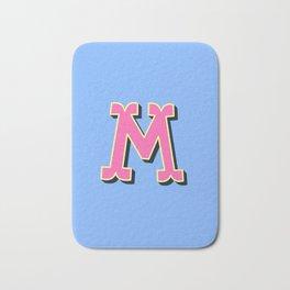 M Initial Letter Bath Mat