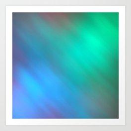 Mystic - Green and Blue Art Print