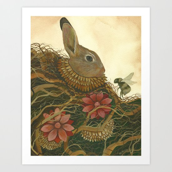 The Rabbit and the Bee Art Print