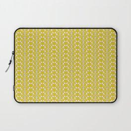 Snow Drops on Mustard Yellow Laptop Sleeve