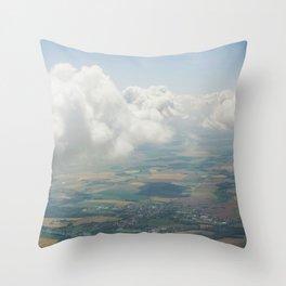 Czech Aerial Landscape Throw Pillow