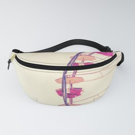 Vintage Inspired Ferris Wheel in Hot Pink and Cream Fanny Pack