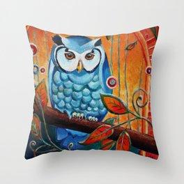 Scopes Owl Throw Pillow