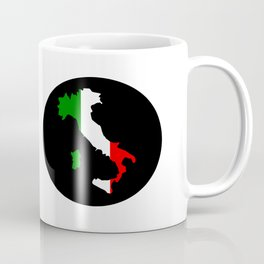 Italy boot shaped flag usa Coffee Mug