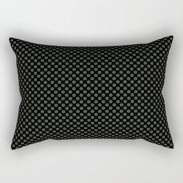 Black and Duffel Bag Polka Dots Rectangular Pillow