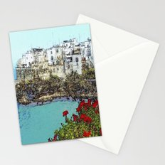 village on the sea Stationery Cards