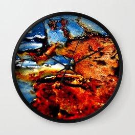 Rusty Heart Wall Clock