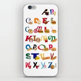 Fast Food Alphabet iPhone Skin