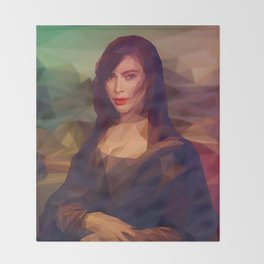 La Gioconda / Kim Kardashian / Mona Lisa Throw Blanket