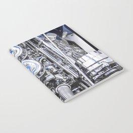 Hot Rod Blue, Automotive Art with Lots of Chrome by Murray Bolesta Notebook