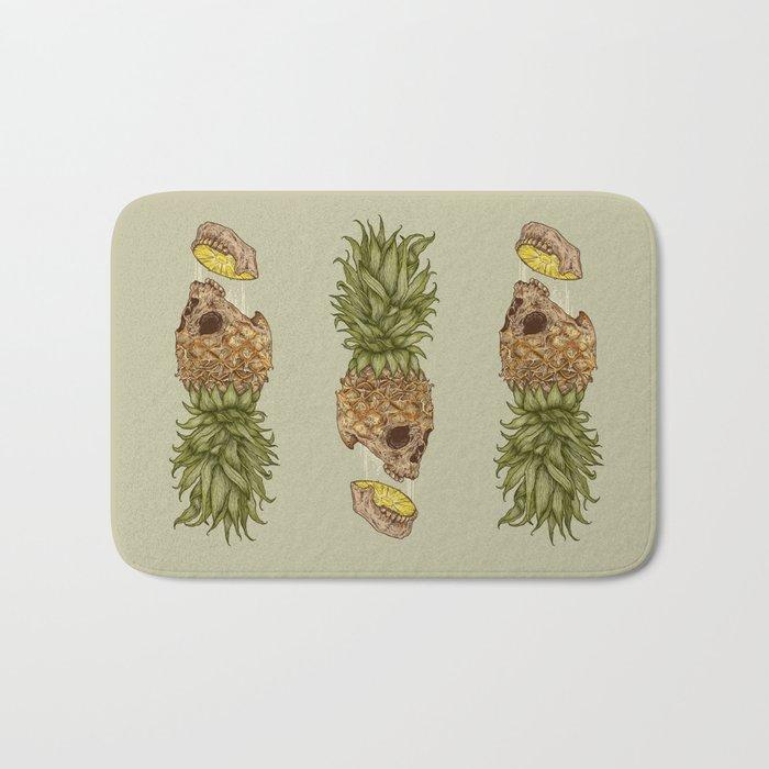 Pineapple Skull Bath Mat
