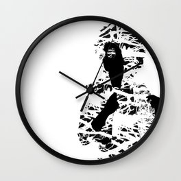 Black & White Colour Girl Wall Clock