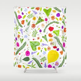 Leaves and flowers (9) Shower Curtain